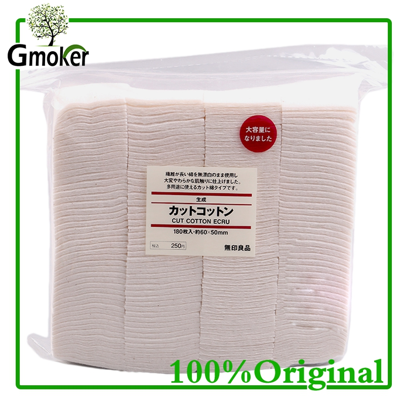 100% Original Japanese Organic Cotton 180Pcs Huge Vapor Eletronic Cigarettes Cotton For RDA RBA DIY Atomizer Coil Wick eleaf coral rda atomizer for diy