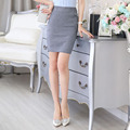 Formal Elegant Grey Slim Fashion Professional Ladies Skirts Office Work Wear Slim Hips Casual Business Women Shorts