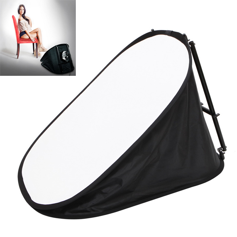 Meking 70*100cm Floor Level Collapsible Softbox Studio Light Modifier For Speedlite Studio Flash Strobe Portrait Shooting
