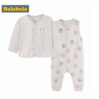 Balabala 2pcs Lot Baby Girls Boys Clothes 2018 Infant Clothing Sets Clothes For Children Spring Clothing