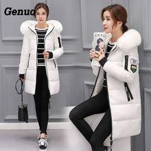 Genuo Winter jacket women 2018 new female parka coat feminina long down plus size hooded overcoat Women