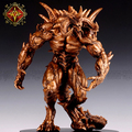 OGRM Top Level Bronze Crafts Diablo Sculpt Heroes Rise Darkness Bronze Handicrafts Statue Scultures Diablo 3