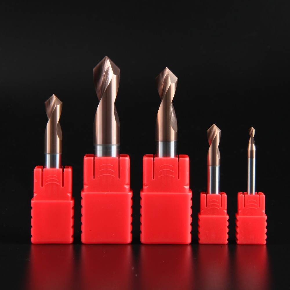 LIJUN HRC60 3MM 4MM 5MM 6MM 8MM 10MM 90 Degree Spot Drill Bit for Machining Hole Drill Chamfering Tools Tungsten Carbide Steel in Milling Cutter from Tools