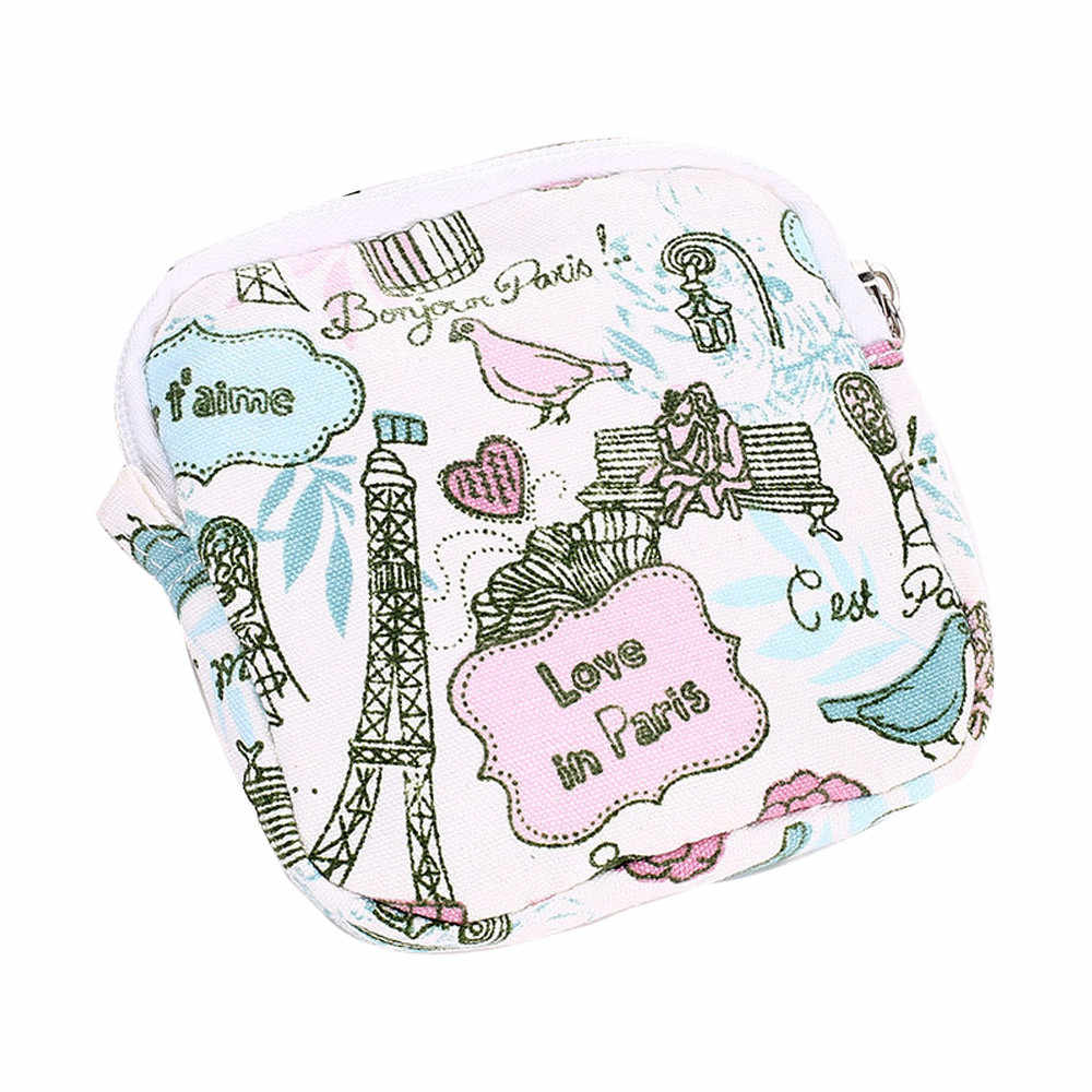 Women Girl Cute Sanitary Pad Organizer Holder Napkin Towel Convenience Bags Cosmetic Organizer Makeup Case