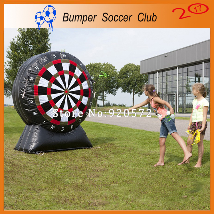Free shipping ! 3m/4m/5m/6m/7m Commercial guangzhou giant football dart game ,inflatable foot darts for sale 6 4 4m bounce house combo pool and slide used commercial bounce houses for sale