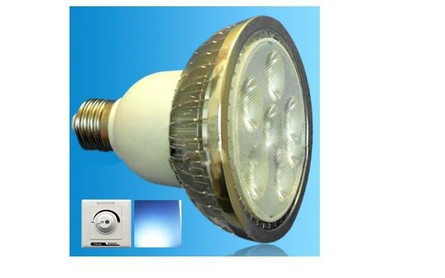 Dimmable led PAR30 Spotlight;with triac dimmer;E26/E27 Base;6*2W;Bridgelux Chip;CCT:2800K,4500K,6500K
