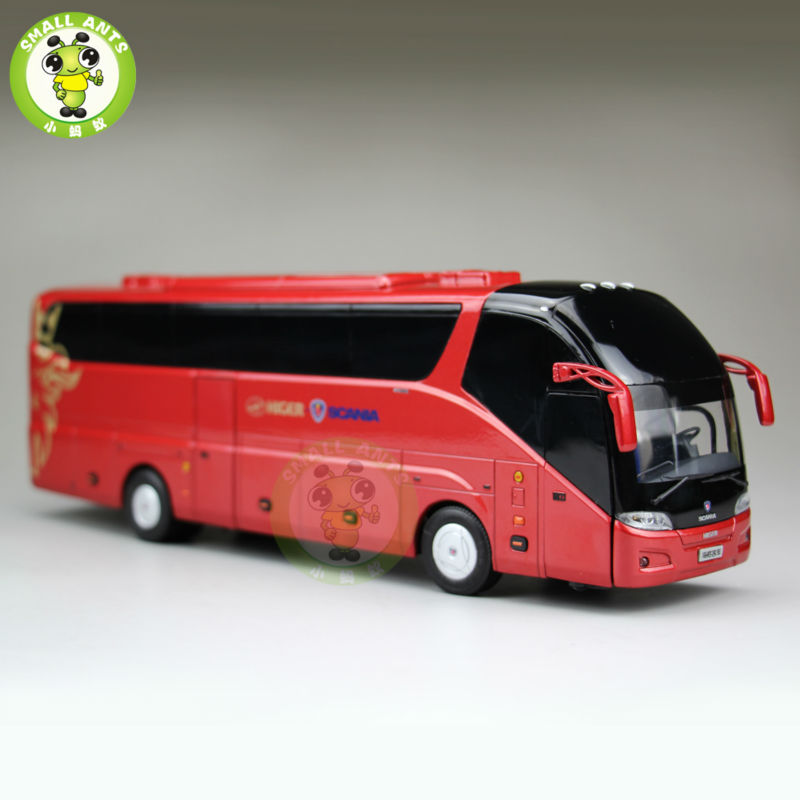 1:43 Scania Bus Coach Models Gold Dragon Higer Bus China Diecast Bus Car Model Toy for kids