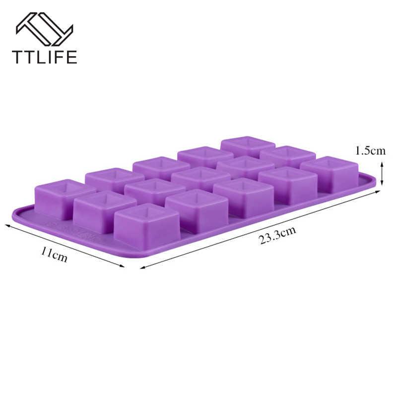 TTLIFE ถาดน้ำแข็งซิลิโคนช็อกโกแลตคุกกี้ Mold แม่พิมพ์วุ้นวุ้นแฮนด์เมดสบู่แม่พิมพ์เค้กตกแต่งขนมจานอบ