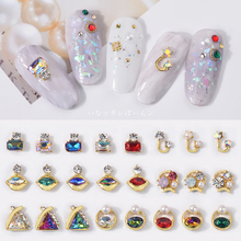 цена на 10pcs 3D Rhinestones DIY Gems New Charming Mix Nail Art Decoration Geometric Jewelry UV Gel Crystal Glitter Sequins nail art