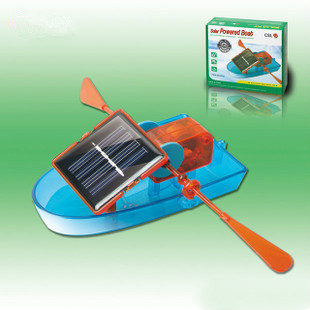 Puzzle DIY Creative Solar Powered Boat Rowing Assembling Toys for Children Educational Toys