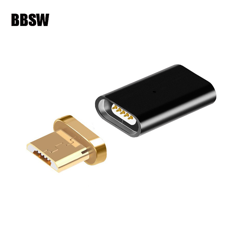 BBSW Metal Micro USB Magnetic Charging Data Adapter Converter For SAMSUNG S6 S7 Edge HTC Xiaomi HUAWEI LG ASUS ZTE Most Android
