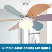 New KF A0601 Household Fan Chandelier Ceiling lights Restaurant Fan Lights Children Room Modern Simple LED Fan Lights 220v 55W