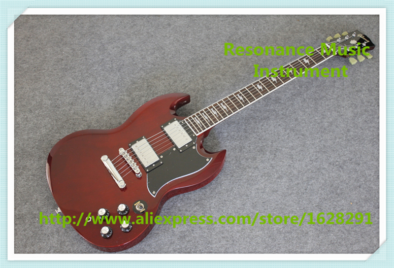 Chinese One Piece Body & Neck Angus Young SG Guitar Electric Same As Picture Free Shipping brand new angus young sunburst sg electric guitar brown custom free shipping chrome hardwares