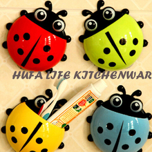 2016 Ladybird Cartoon Sucker Toothbrush Holder Cute Suction Hook Tooth Brush Rack Accessories Set Suction Cup Tool For Bathroom