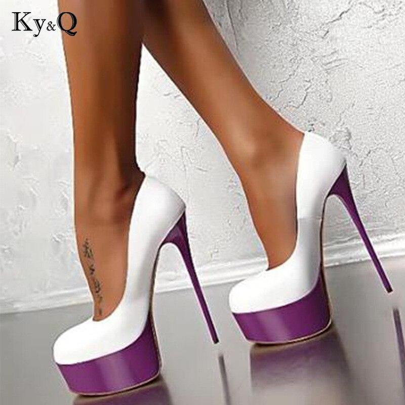 8af1da058f Sexy High Heels 16cm Wedding Shoes Woman Pumps Platform Shoes For Party  Stiletto Heel Bridal Shoes Size 34 - 40
