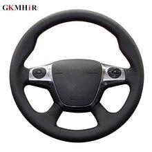 Nero Morbido Artificiale Volante In Pelle Auto Copertura Della Ruota di Copertura per Ford Focus 3 2012 2014 KUGA Fuga 2013 2016