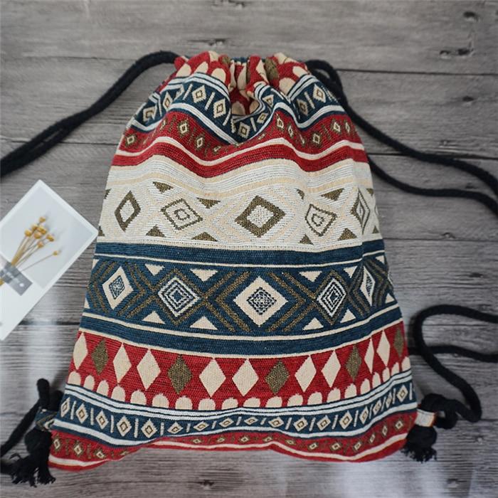 HTB1fOYKduuSBuNjSsplq6ze8pXag LilyHood Women Fabric Backpack Female Gypsy Bohemian Boho Chic Aztec Ibiza Tribal Ethnic Ibiza Brown Drawstring Rucksack Bags
