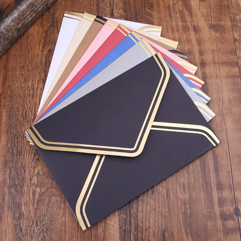 10pcs Retro Vintage Blank Craft Paper Envelopes For Letter Greeting Cards Wedding Party Invitations 125x175mm