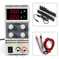 DC Power Supply Variable, Wanptek Adjustable Switching Regulated Power Supply Digital, 30 V 10A with probe pen 28PCS Terminal