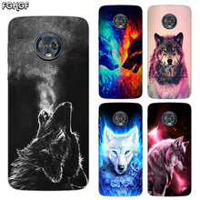 Silicone Hull Shell Back Case For Motorola MOTO G5 G5S G6 E4 E5 Plus G4 Play X4 Riverdale Cover Starry animal wolf