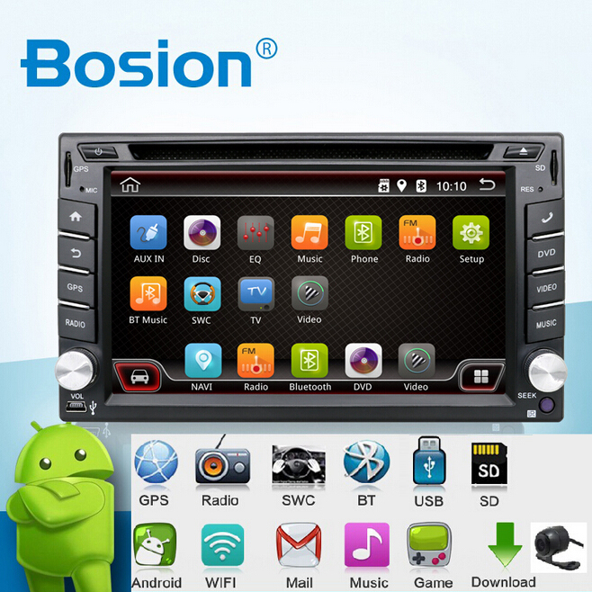 imágenes para En Dash Android 6.0-CPU Doble 2 Din Car radio GPS Navi DVD reproductor Estéreo Headunit Video BT Car CD de la PC WiFi 3G de coches de estacionamiento