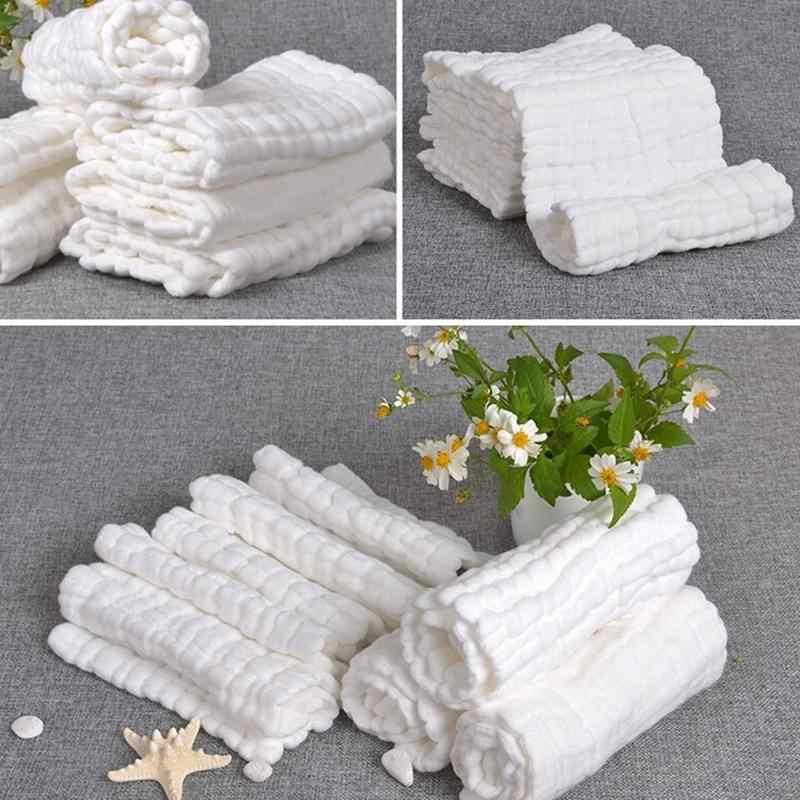 1 ชิ้น 10 ชั้นใส่ผ้าฝ้าย 100% ผลิตซักล้างสำหรับทารกโปรโมชั่นเด็กนำกลับมาใช้ใหม่ผ้าอ้อมเด็กผ้าอ้อมผ้าอ้อมผ้า