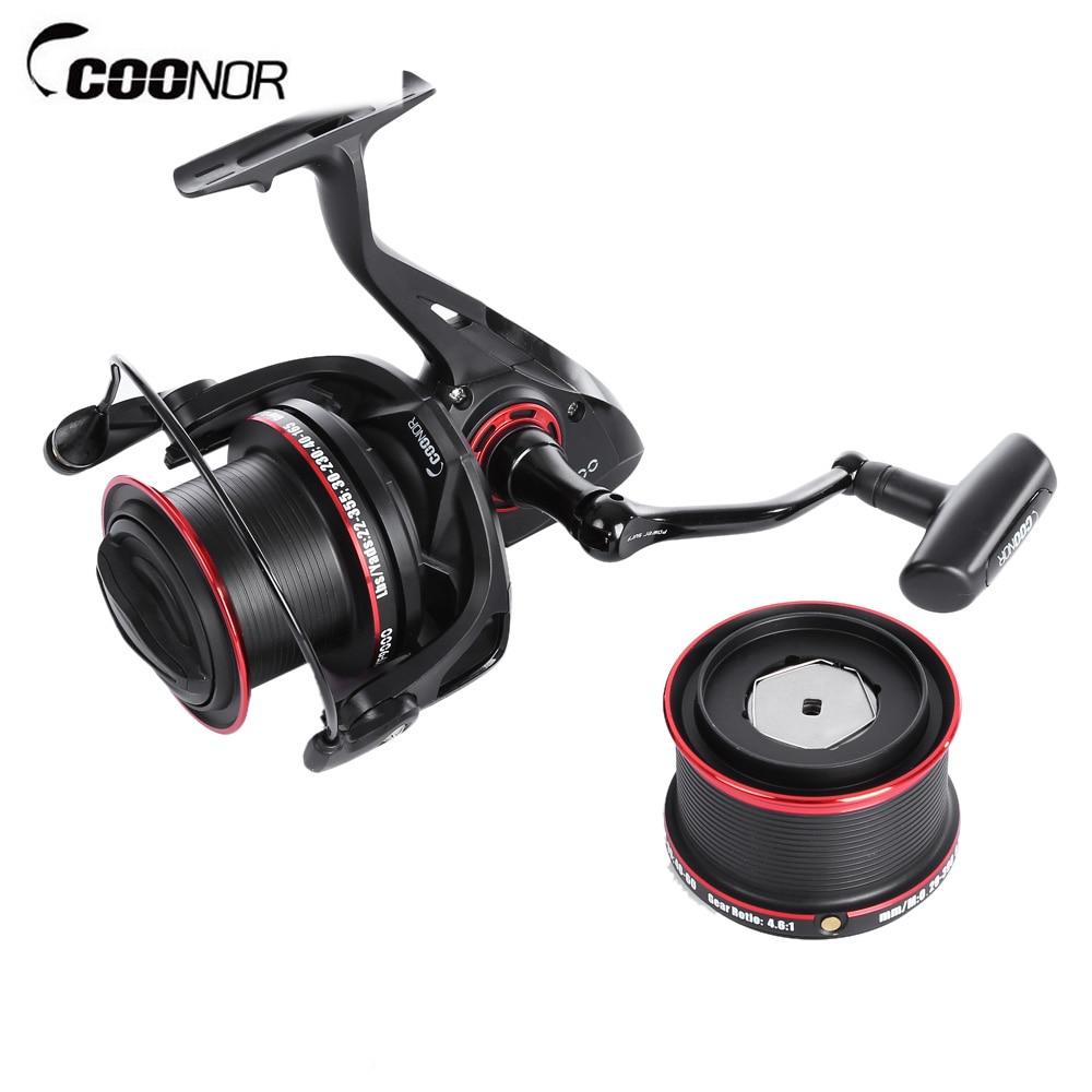 COONOR Metal Spool Spinning Fishing Reel 12 + 2 Ball Bearings 4.6:1 With YF8000 + YF9000 акустические кабели supra ply 2 0 spool
