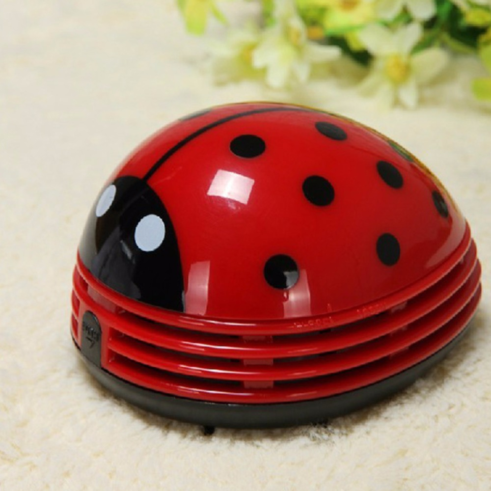Mini Vacuum Cleaner Ladybug Desktop Coffee Table Car Sucker Home Car Styling