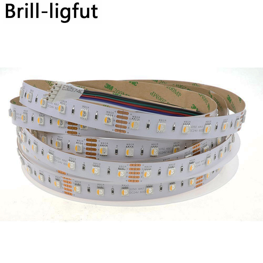 Lights & Lighting Led Strips 4 Colors In 1 Led Rgbw Led Strip Dc 24v 12v 5050 Smd 60led/m 5m/roll Waterproof Rgbw Led Strip Light Rgb+white Rgb+warm White Elegant In Smell