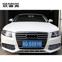 Car styling front fog lamps grille slats lights covers Sticker decoration strips For Audi A4 b8 2009 2012 auto Accessories