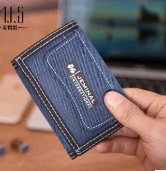 2018 Tri Lipat Kanvas Pria Dompet Korea Dompet Pria 5 Warna Tersedia