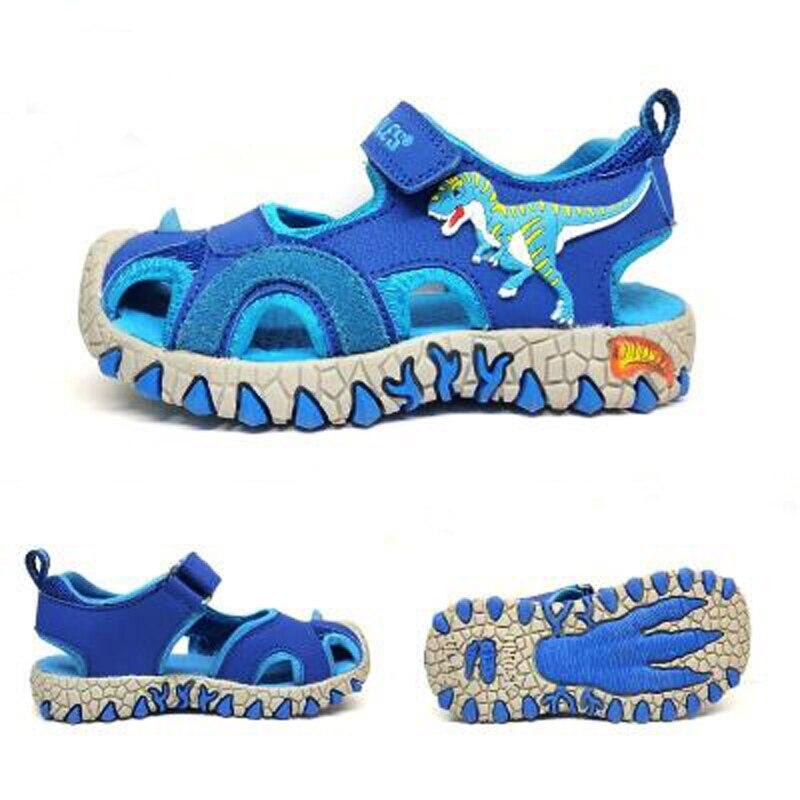 Dinoskulls Rubber Closed Toe Sandals Children'S Summer Sandals Boys Fashion Kids Casual Sports Sandals 3D Dinosaur Shoes