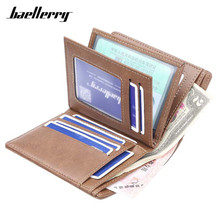 Baellerry Many Departments Slim Wallets Men Leather Brand Man Small Wallet Carteira Card Holder Male Purse High Quality