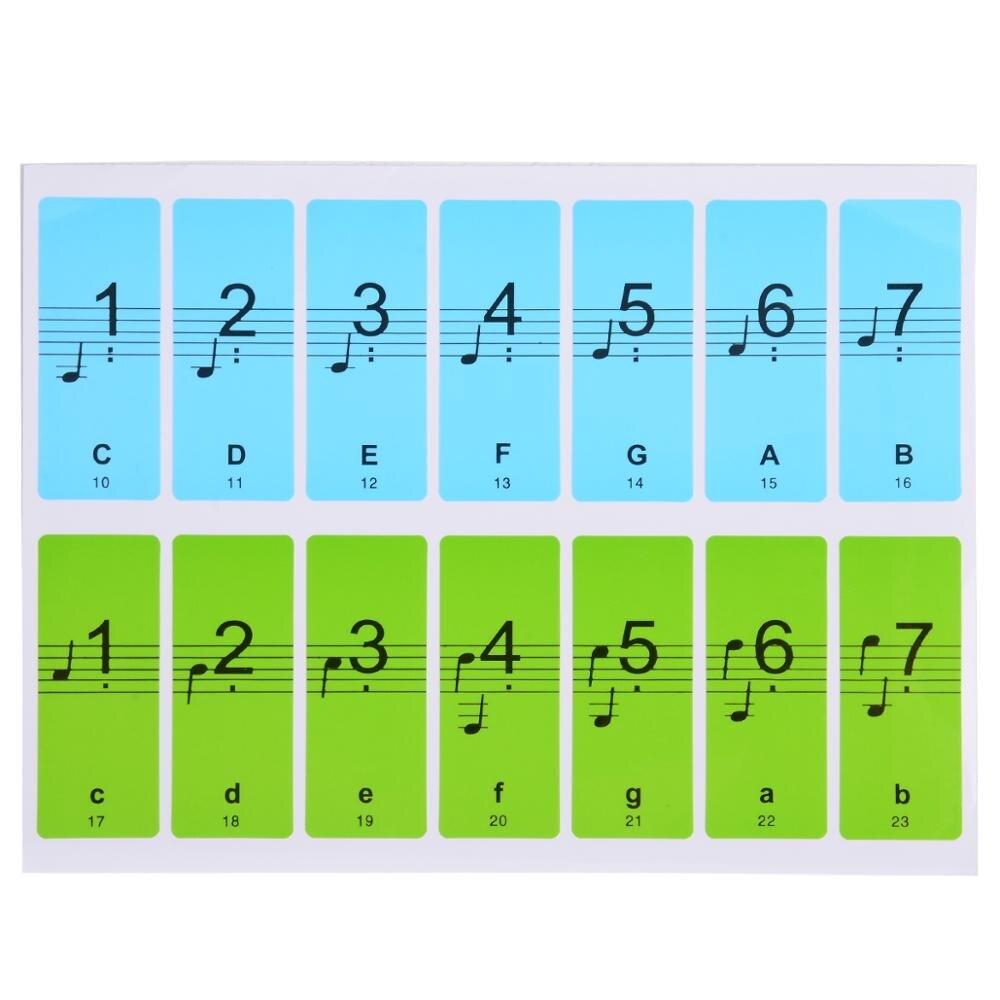 1 Pc Abnehmbare 88-key Elektronische Tastatur Klavier Schlüssel Hinweis Aufkleber Etiketten Klavier Anfänger Aufkleber Neue Verkäufe