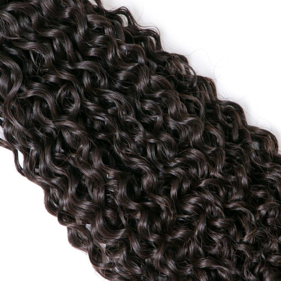 Lumiere пучки волос камбоджийской странный вьющиеся переплетения человеческих волос 3 Связки Natural Цвет волос Номера Реми бесплатная доставка