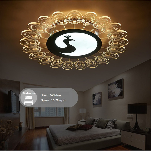 Ultra Thin Acrylic Led Ceiling Lamp Creative Pea Children S Princess Room Bedroom Personality Dance