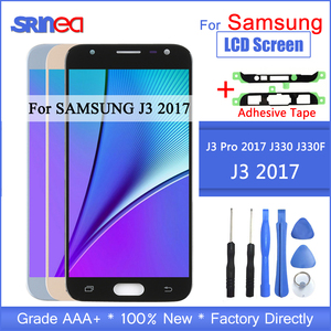 Image 1 - J3 2017 LCD For Samsung Galaxy J330 J330F SM J330FN LCD Display And Touch Screen Digitizer Assembly With Adhesive Tools