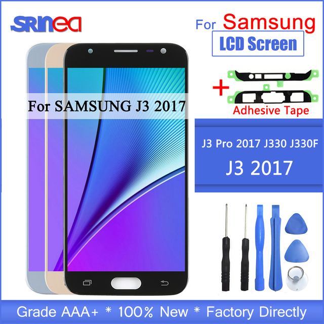 J3 2017 LCD For Samsung Galaxy J330 J330F SM J330FN LCD Display And Touch Screen Digitizer Assembly With Adhesive Tools