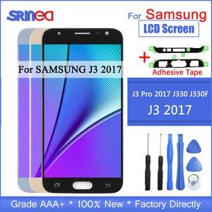 Image 1 - J3 2017 LCD עבור סמסונג גלקסי J330 J330F SM J330FN תצוגת LCD ומסך מגע Digitizer עצרת עם דבק כלים