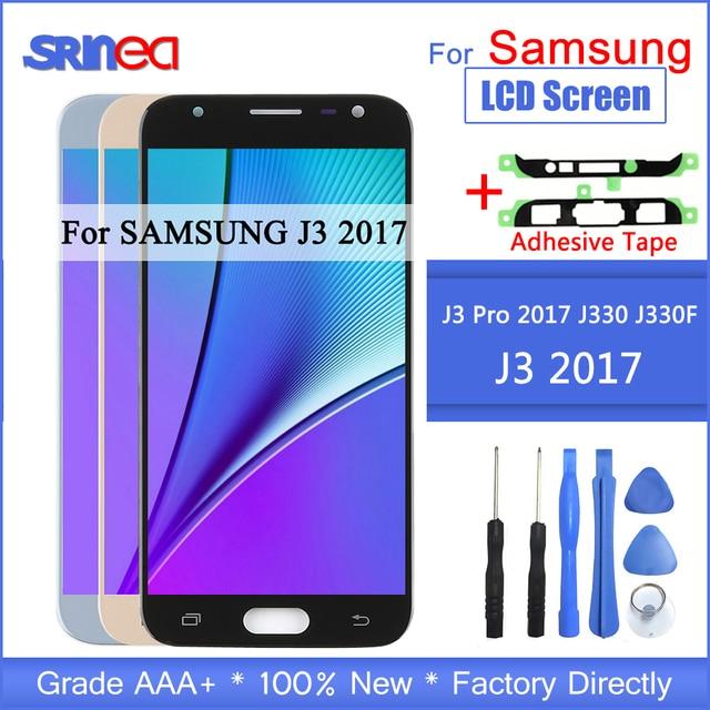 J3 2017 LCD עבור סמסונג גלקסי J330 J330F SM J330FN תצוגת LCD ומסך מגע Digitizer עצרת עם דבק כלים