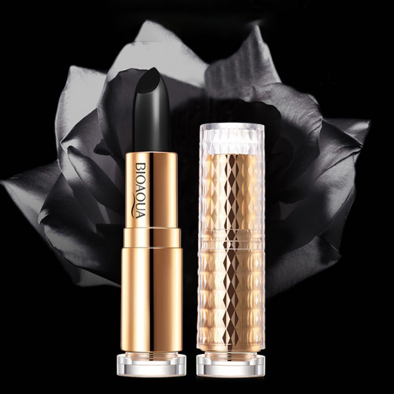 Glitter Lipstick Black Temperature Change Plum Red Lip Stick Long-lasting Black Rose Lips Balm For Women Gift Lip Beauty Makeup 7