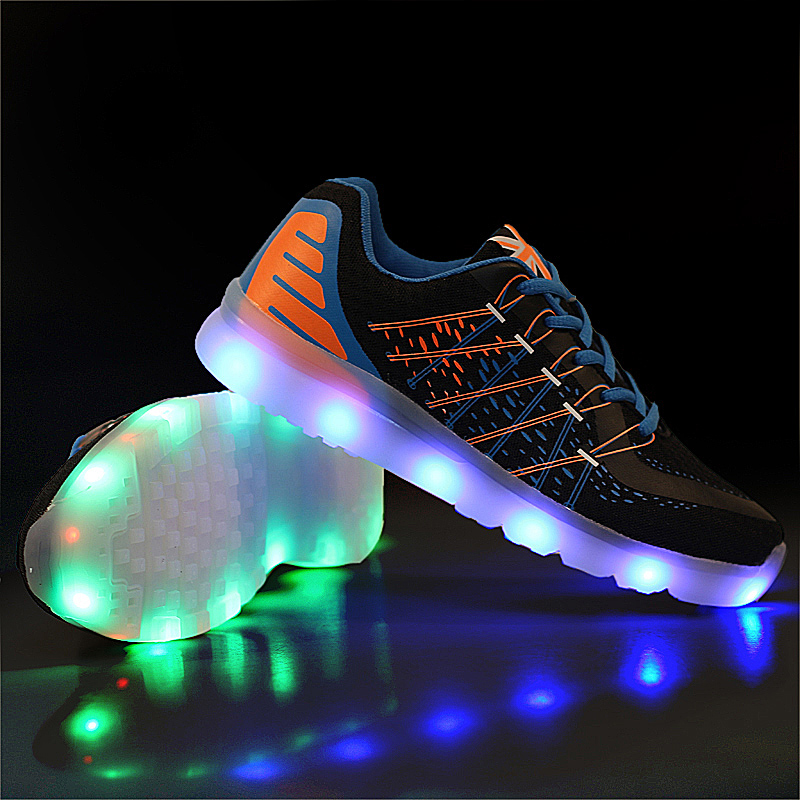 USB rechargeable LED Light UP shoes Max Comfortable Athletic outdoor Sport Athletic Sneakers zapatos de hombre Running