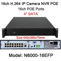 Full Hd DC 48V 16 Ch 1080P POE NVR 5MP 3MP POE NVR Embedded LINUX Full