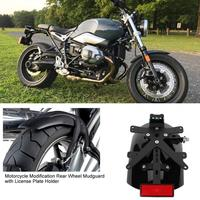 Motorcycle Modification Rear Wheel Mudguard with License Plate Holder For BMW R NINE T 2014 2015 2016 2017 2018 R NINET R9T