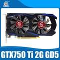 Nvidia Geforce чипсет видеокарта оригинальный 100% новый GTX750Ti 2048 МБ GDDR5 128Bit видеокарты 1020/5400 MHz