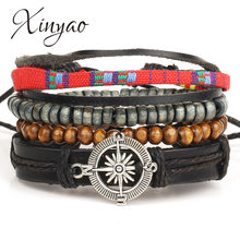2019 Handmade Vintage Punk Multilayer Braided(China)