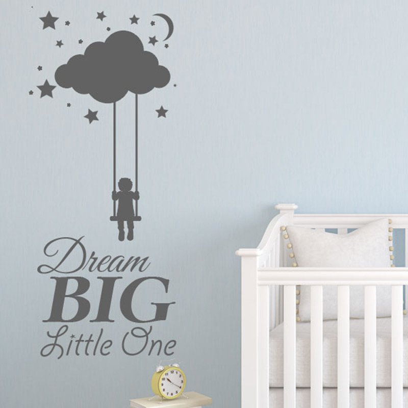 Hot Ing Dream Little One Baby Room Wall Decals Nursery Sticker Home Decor Removable Vinyl Paper In Stickers From
