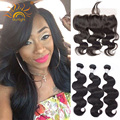 Brazilian Body Wave Sexy Hair With Frontal Preplucked Frontal Closure With 3bundles Body Wave Brazilian Hair Weave Bundles
