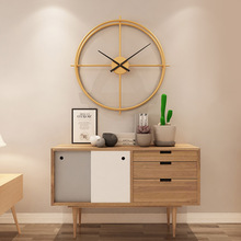 40cm Creative Wrought Iron Diameter Retro Simple Art Clock Silent Wall Modern Design Decorative Clocks Home Decor