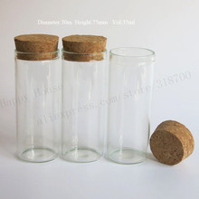 360 X 35ml empty clear glass tube with wooden cork, 35cc glass Vials stopper,cork stopper tube used for show jewellery ,flowers